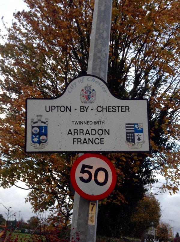 Upton-by-Chester twinned with Arradon France
