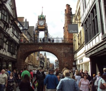 Eastgate Clock in Chester City Centre